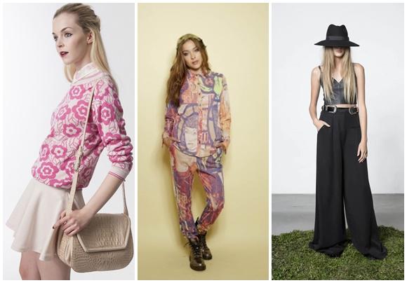 Modelo com roupas de três estilistas argentinos: Las Pepas, Juana de Arco e Allo Martinez blog Vem Por Aqui
