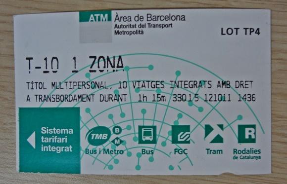 Tíquete de metrô de Barcelona Blog Vem Por Aqui