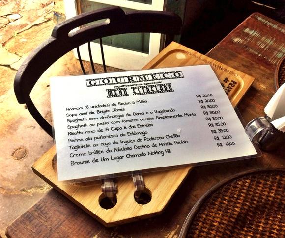 Cardápio do restaurante Gourmeco em Tiradentes Blog Vem Por Aqui