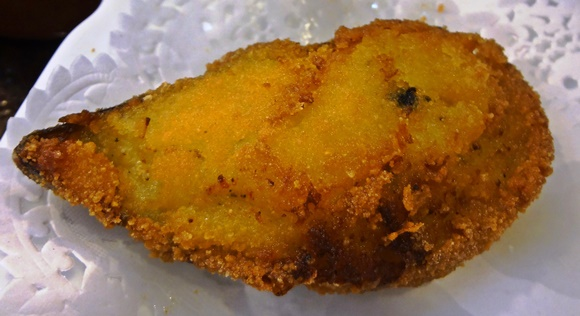 Mexilhão empanado do Jai-Ca Blog Vem Por Aqui