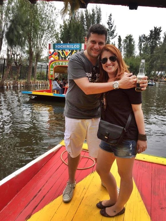 Érika e Mateus em Xochimilco Blog Vem Por Aqui
