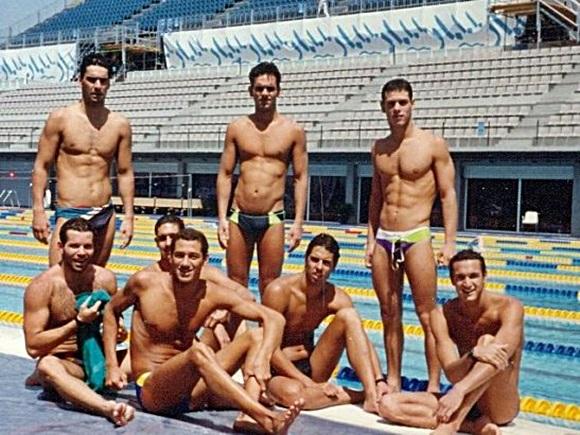 Equipe olímpica de natação em Barcelona Blog Vem Por Aqui