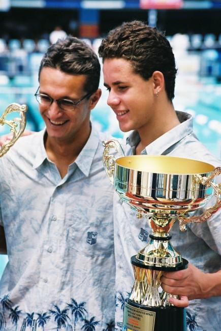 Rogerio e Thiago numa competição Blog Vem Por Aqui