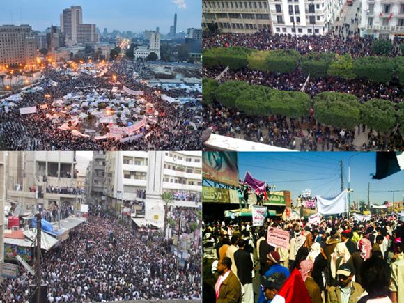 Pessoas protestando no Egito, na Tunisia, no Yemen e na Síria Blog Vem Por Aqui