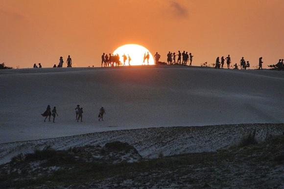 Pôr do sol em Itaúnas Blog Vem Por Aqui