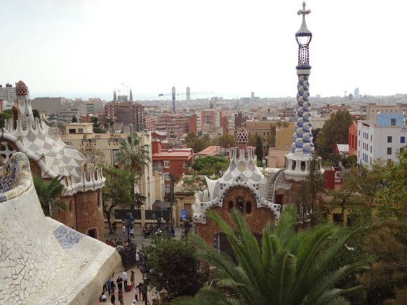 Vista do alto do parque Guell