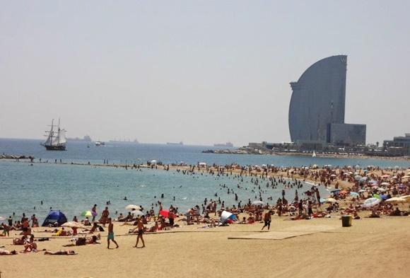 Orla de Barceloneta blog Vem Por Aqui