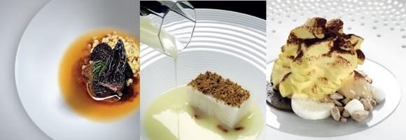 Mosaico com três fotos do Osteria Francescana Blog Vem Por Aqui