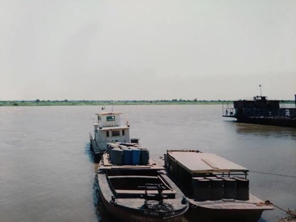 Barco em que fez a travessia Blog Vem Por Aqui