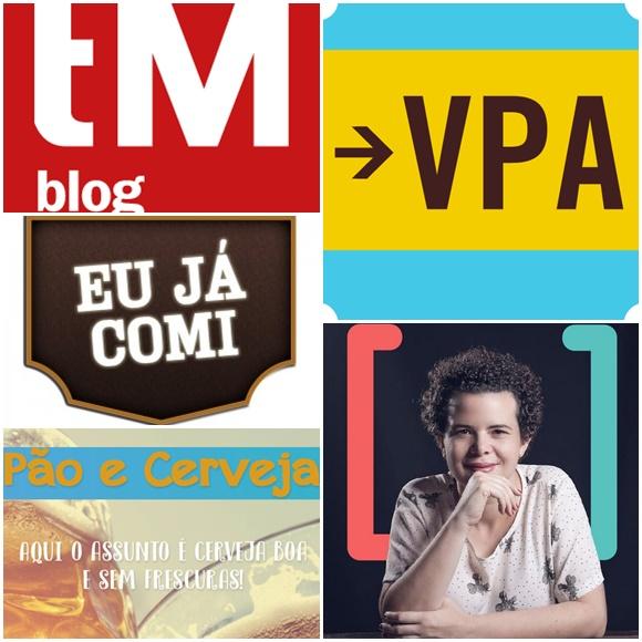 Mosaico com logos do Turismo de Minas, Eu Já Comi e Pão e Cerveja, ao lado Vem Por Aqui e Culturadoria Blog Vem Por Aqui