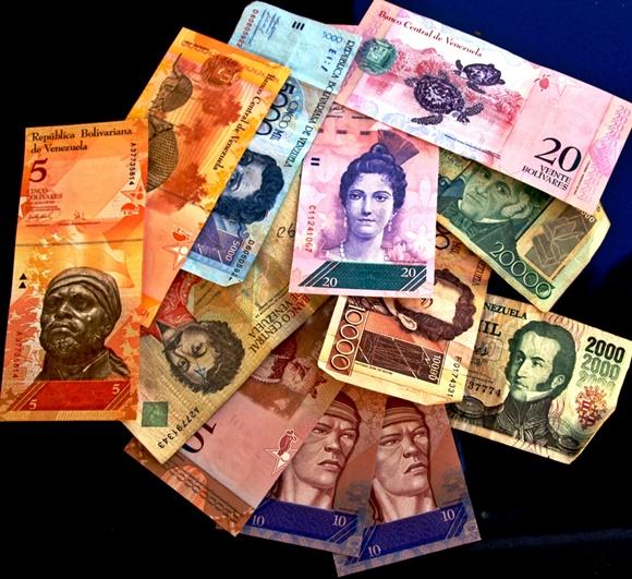 Notas de Bolívares de valores variados Blog Vem Por Aqui