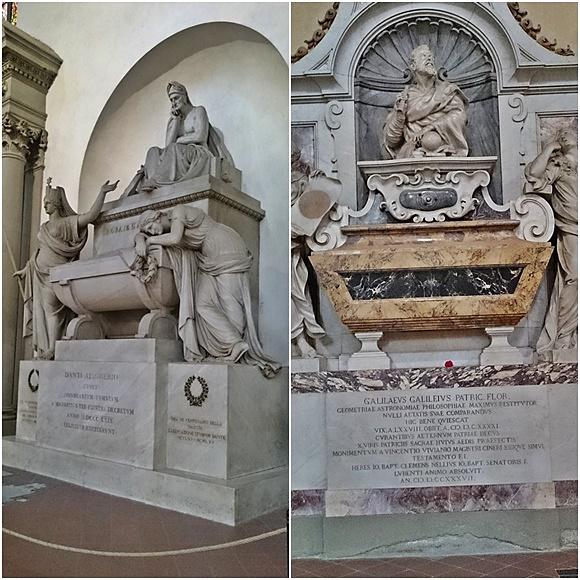 Mosaico com os túmulos de Dante e Galileu Blog Vem Por Aqui