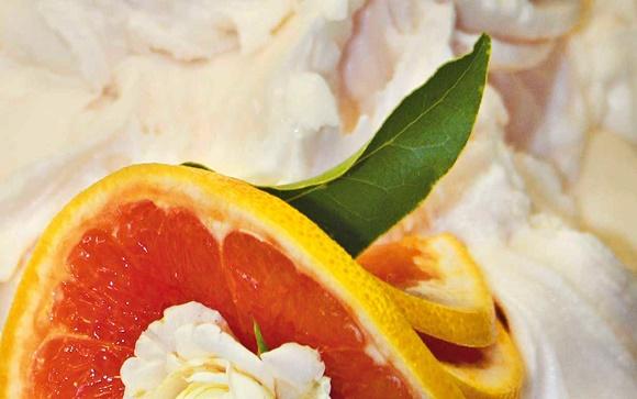 Sorvete de pomelo com espumante Blog Vem Por Aqui