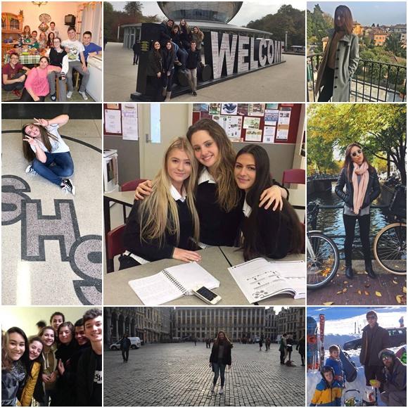 Mosaico com fotos dos estudantes que deram depoimento para a matéria sobre 10 Coisas que Ninguém te Conta sobre Intercâmbio Blog Vem Por Aqui