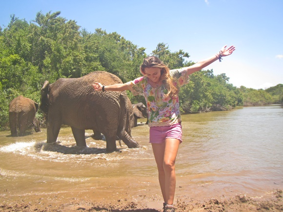 Dani num santuário de elefantes Blog Vem Por Aqui