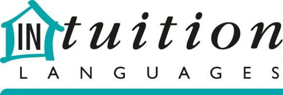 Logo do InTuition com uma casa em volta do IN e a palavra Languages escrita abaixo de Intuition sublinhada Blog Vem Por Aqui